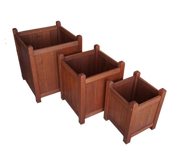 Set Of 3 Alula Outdoor Planter Boxes