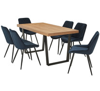 Bridge 7 Piece Dining Set With Reyna Chairs
