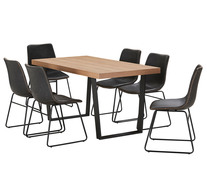 Bridge 7 Piece Dining Set With Jonnie Chairs