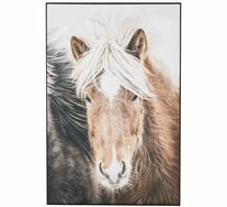 Beachy Horse Framed Wall Art