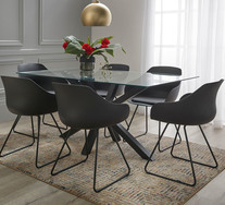Blakely 7 Piece Dining Set With Arden Chairs