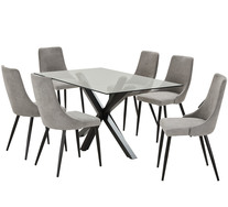 Blakely 7 Piece Dining Set With Lyon Chairs