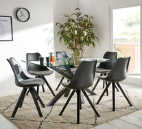 Blakely 7 Piece Dining Set With Dimi Chairs