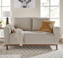 Belrose 2 Seater Sofa With Walnut Legs