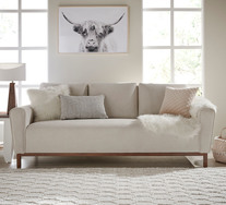Belrose 3 Seater Sofa With Walnut Legs