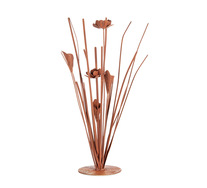 Copper Flower Sculpture
