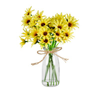 25cm Crysanthemum Artificial Plant in Vase