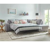 Denver 5 Seater Modular Chaise with Sofa Bed