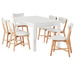 Hamilton 7 Piece Extendable Dining Set With Elke Chairs
