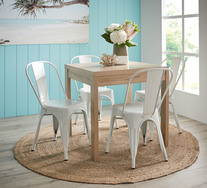 Havana 5 Piece Dining Set With Replica Tolix Chairs