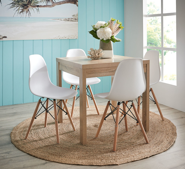 Havana 5 Piece Dining Set With Replica Eames Chairs