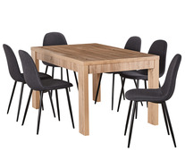 Havana 7 Piece Dining Set with Mambo Chairs