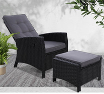 Keelan Outdoor Recliner Set