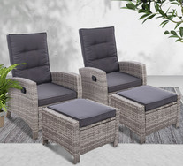 Keelan 4 Piece Outdoor Recliner Set