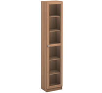Kobi Large Narrow Bookcase with Glass Door