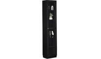 Kobi Large Narrow Bookcase With Glass Doors
