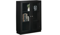 Kobi Small Wide Bookcase With Glass Doors