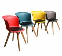 Set Of 4 Liliana Mixed Colour Chairs