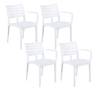 Set Of 4 Luna Outdoor Dining Chair