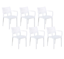 Set Of 6 Luna Outdoor Dining Chair