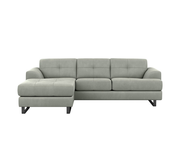 Miami 3 Seater Chaise With Black Legs