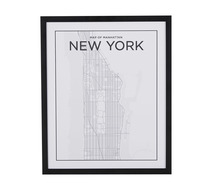Manhattan Map Wall Art