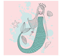 Mermaid Princess Wall Art