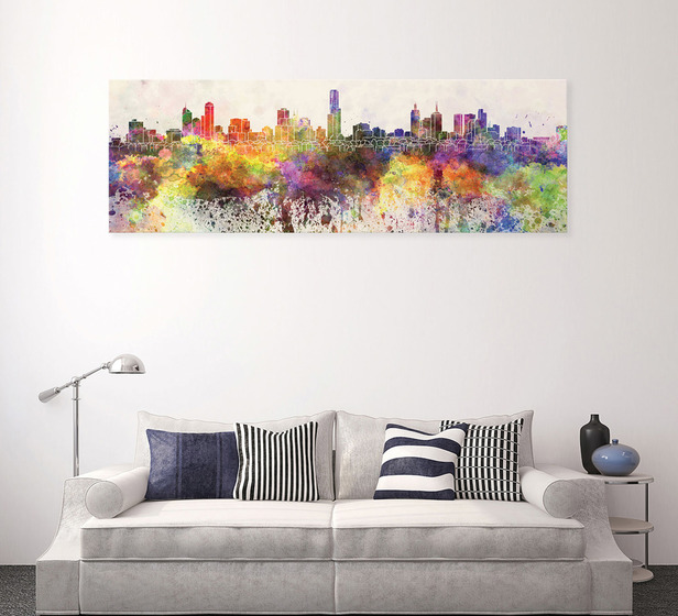 Melbourne Skyline Wall Art