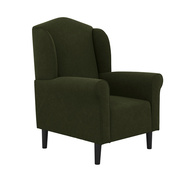 Maggie Plush Armchair With Black Legs