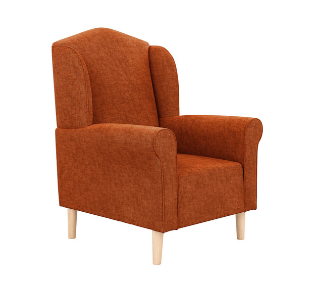 Maggie Plush Armchair With Oak Legs