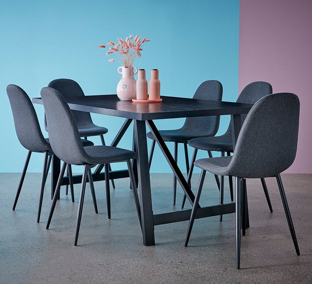 Nicholls 7 Piece Dining Set with Mambo Chairs