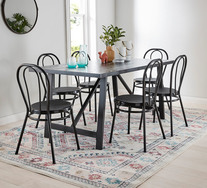 Nicholls 7 Piece Dining Set With Province Chairs