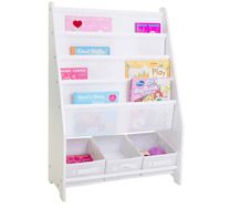Nia Book Display with 3 Storage Tubs