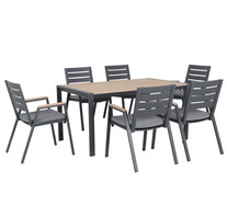 Napton 6 Seater Deluxe Outdoor Dining Set