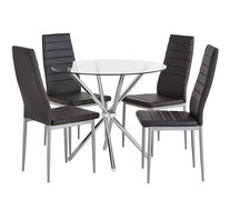 Pinto 5 Piece Dining Set with Zara Chairs