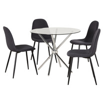Pinto 5 Piece Dining Set with Mambo Chairs