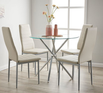Pinto 5 Piece Dining Set with Clara Chairs
