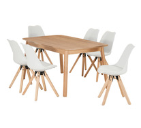 Retro 7 Piece Dining Set With Dimi Chairs