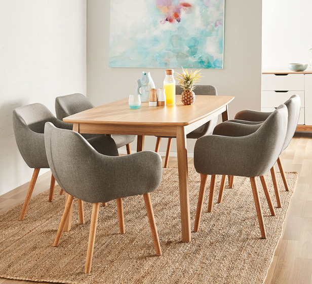 Retro 7 Piece Dining Set With Nicki Chairs