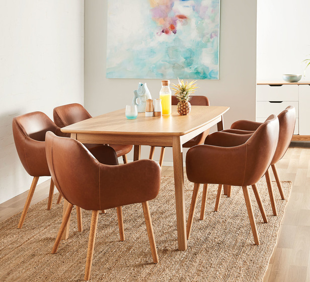 Retro 6 Seater Dining Table