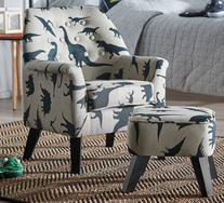 Sofasaurus Armchair With Footstool
