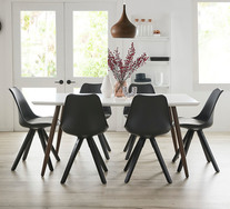 Stockholm 7 Piece Dining Set With Dimi Chairs