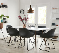 Stockholm 7 Piece Dining Set With Arden Chairs