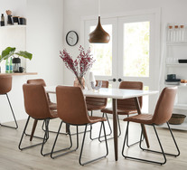 Stockholm 7 Piece Dining Set With Frankie Chairs