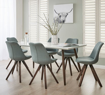Stockholm 7 Piece Dining Set With Dana Chairs