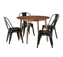 Tara 5 Piece Dining Set with Replica Tolix Chairs