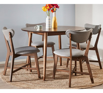 Tara 5 Piece Dining Set With Elke Chairs