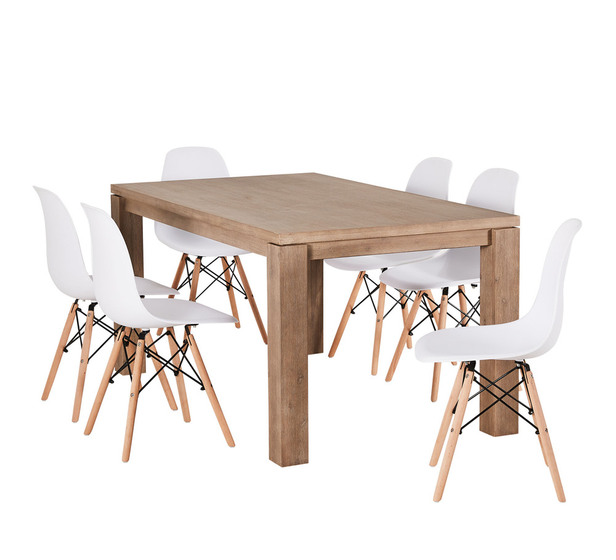 Toronto 7 Piece Dining Set with Eames Chairs