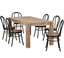 Toronto 7 Piece Dining Set with Replica Bentwood Chairs