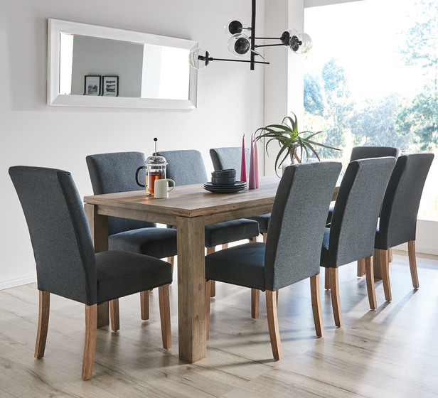 Toronto 9 Piece Dining Set With Parker Chairs Fantastic Furniture